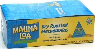 Dry Roasted Macadamia Nuts - DRY ROASTED MAUNA LOA MACADAMIA NUTS 24 / .5 oz TRIANGLE PACKS