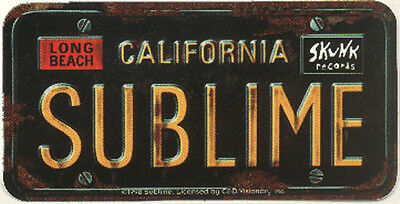 15055 Sublime License Plate Logo Ska Punk Rock Reggae Long Beach Decal Sticker