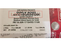 Guns N Roses not in this life time 1 x standing ticket available