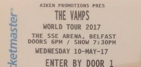 2 tickets in the WOW pit for the Vamps 10th May - face value