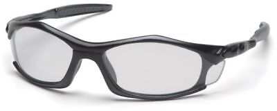 Pyramex Solara Safety Glasses with Black Frame and Clear Lens ANSI (Solara Glasses)