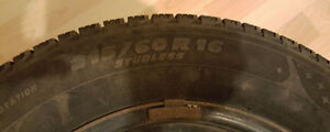 Michelin 215/60R16/XL 99H Extra Load Snow Tires with Rims St. John's Newfoundland image 3