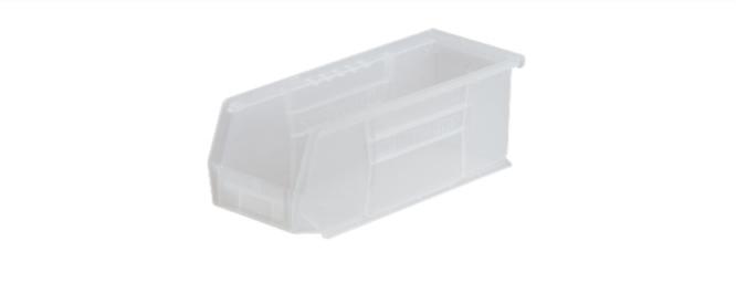 "McKds AkroBins Storage Bin Clear Industrial Grade Polymers 4 X 4-1/8 X 10-7/8 """
