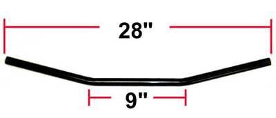 Black Drag Style Bar Handlebar 7/8 Yamaha RD400 RD350 RD250 XS1 XS2 XS650 TX500