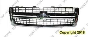 Grille Matt-Black With Chrome Frame 2500/3500 Chevrolet Silverado 2007-2010