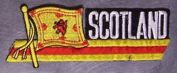 Embroidered International Patch Royal Banner of Scotland NEW streamer