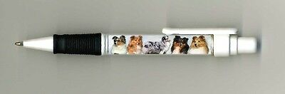 Sheltie/ Shetland Sheepdog Dog Design Retractable Acrylic Ball Pen by paws2print