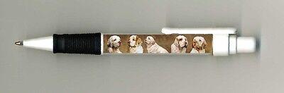 Clumber Spaniel Dog Design Retractable Acrylic Ball Pen by paws2print
