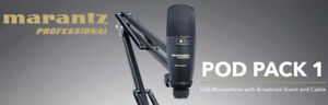 Marantz Pod Pack USB Microphone with Standand Cable Kit