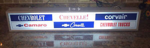 LIGHTED CHEVY SIGN.