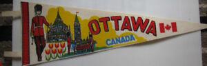 """Vintage Ottawa Canada Pennant 26"""" wide"""