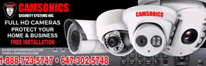 Home security camera installation package