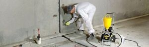 Crack injection and waterproofing