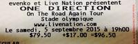 One Direction billets de concert tickets