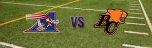 Buy Tickets for BC Lions vs. Montreal Alouettes