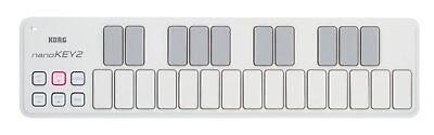 Usado, Korg Nanokey2 White, Nanokey Version 2 25-key USB MIDI Controller Keyboard segunda mano  Embacar hacia Mexico