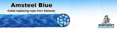 Winch Lines Amsteel Blue, 12 Strand, 19,600 Lb Strength, Spliceable, 3/8