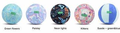 23cm Exercise Ball for Yoga, Pilates & Gym w/Fabric Ball Cover for Home Deco