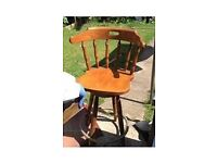 High wooden solid pine chair antique