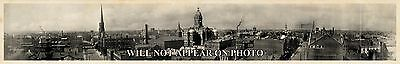 """1907 Evansville Indiana Vintage Panoramic Photograph 6 3/4"""" x 42"""" Long"""