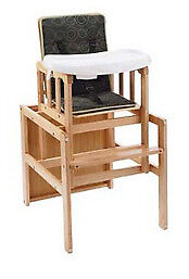 BabyStart 3-in-1 Wooden Baby Highchair. Brand new. Still in original packaging. Never Opened.