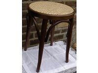 Stool. Wicker Stool. Bentwood. Wood Furniture