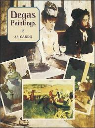 24 Postcards of Degas Paintings