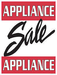 "SATURDAY 10 to 3 - USED APPLIANCE Clear-out ""SALE"" at 9267-50 ST"
