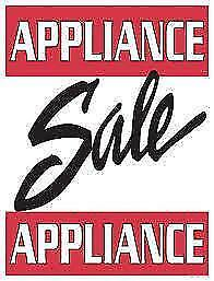 Reconditioned USED APPLIANCE Clear-out / FRIDGES $250 to $550  //  STOVES $280 to $400