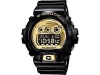 G-SHOCK BLACK & GOLD CASIO MENS WATCH