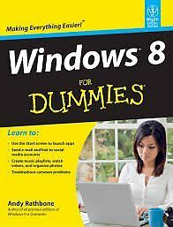 Windows 8 for Dummieswith cd guide Andy Rathbonein Berkhamsted, HertfordshireGumtree - learn how to set up a network, protect privacy, work with W8 on mobile devices. comes with cd guide ISBN 978 1 118 13461 0 £2 not including postage