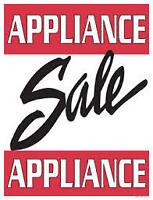 """Used Appliance Clearout """"SALE"""" > 9267-50  Street Edmonton"""