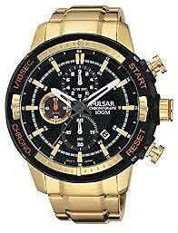 Pulsar Men's PM3048 Gold-Plated Chronograph Sport Wrist Watch