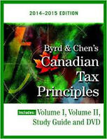 Canadian Tax principles - Byrd & Chen 2014-2015 w/solution