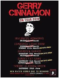 Gerry cinnamon x1 I inverness ticket 6th april