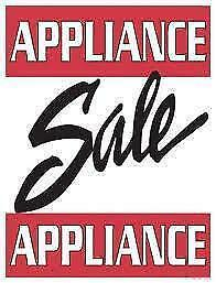- Reconditioned USED APPLIANCE SALE - FRIDGES  STOVES  WASHERS  DRYERS  D/Ws @ 9267 - 50 Street