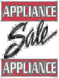 Used Appliance OVERSTOCKED  SALE - Refrigerator Stove Washer Dryer Dishwasher