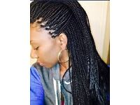 Hair Braiding and twisting/weaving extension from line to half head