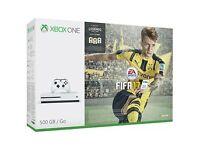 Brand new unopened Microsoft Xbox One S FIFA 17 Bundle 500GB White
