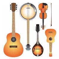 Music Lessons  Guitar Fiddle/Violin Mandolin and  C.H. Banjo