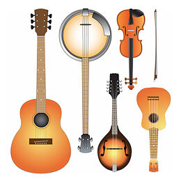 Music Lessons  Guitar Fiddle/Violin Mandolin and  CH Banjo