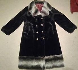 Vintage Courtelle Fur coat approx size 18