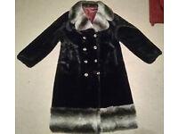 Vintage Courtelle fake fur coat approx size 18