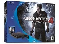 Uncharted 4 PS4 Slim 500GB Console Bundle + 4 Top Games!!!!....New Condition!!!!
