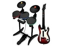 Wii Guitar Hero Kit (Drum and guitar) for only £10