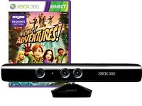 X Box 360 xbox360 Kinect 360 - Like New - Two games