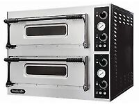 HiBi Now! Pay over 4 Months, NEW FOODSVILLE 6+6 STONE DECK PIZZA OVENS, With Warranty!