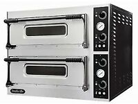 HiBi Now! Pay over 4 Months, NEW FOODSVILLE 4+4 STONE DECK PIZZA OVEN, With Warranty!