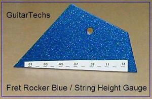 GuitarTechs-FRET-ROCKER-BLUE-STRING-HEIGHT-GAUGE-Combo-Luthier-Tool-Level