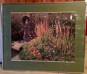 Claude Monet - Gladioli - Custom Framed - $65
